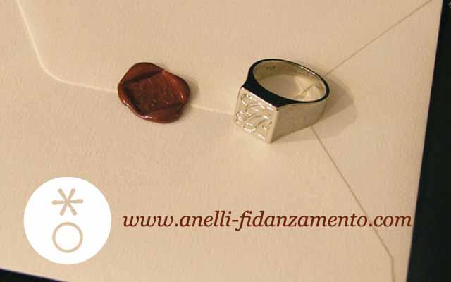 Engraved men's ring