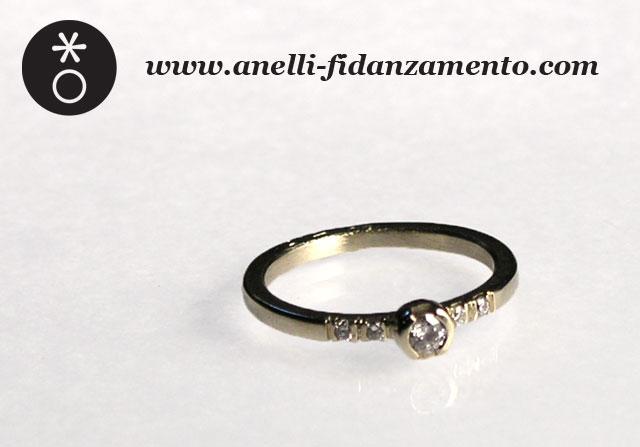 Veretta con solitario anelli fidanzamento for Anelli di fidanzamento famosi