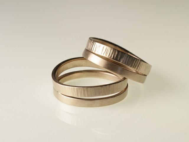 "Fedi matrimoniali originali: ""Duo""- fedi in oro bianco nickel free / ""Duo""- White nickel free gold rings"