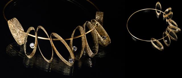 Foto del gioiello personalizzato in oro giallo e diamanti