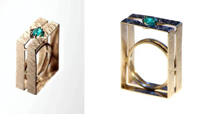 Foto dell'anello con pietra preziosa