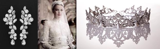 foto di grace kelly ed i diamanti della corona