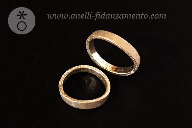 fedi in oro personalizzate - Coppia di Fedi in Oro Bianco