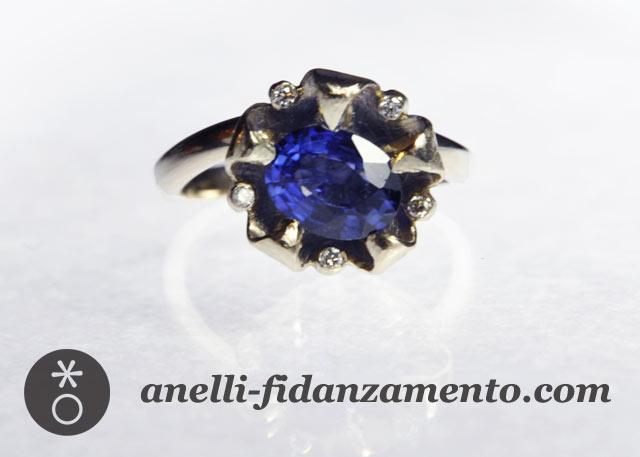anello fidanzamento zaffiro