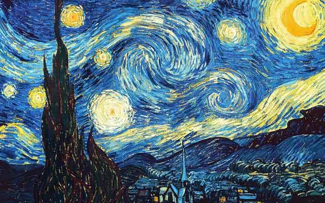 La notte stellata di V