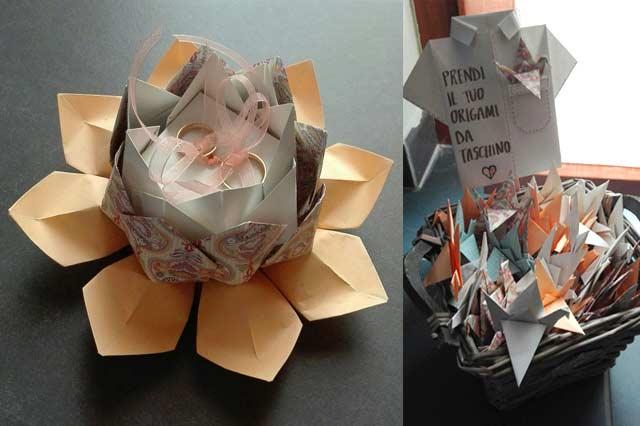 Il porta fedi origami di Miriam e Roberto.