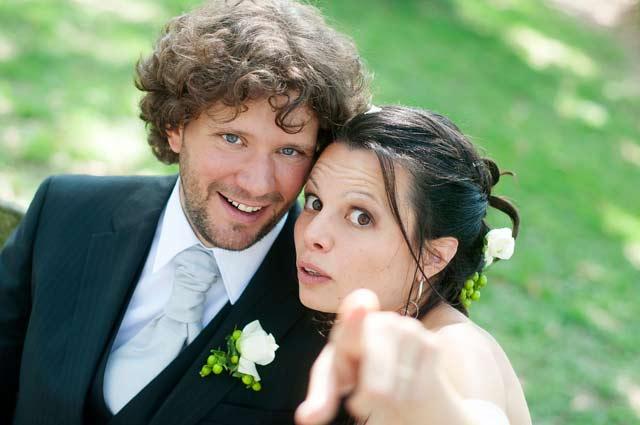 Chiara e Riccardo il giorno delle loro nozze.