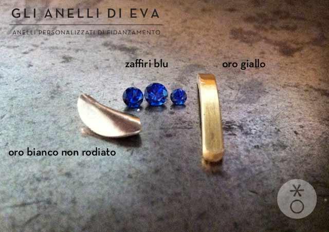 Lo zaffiro blu si abbina bene all'oro bianco ma anche all'oro giallo.