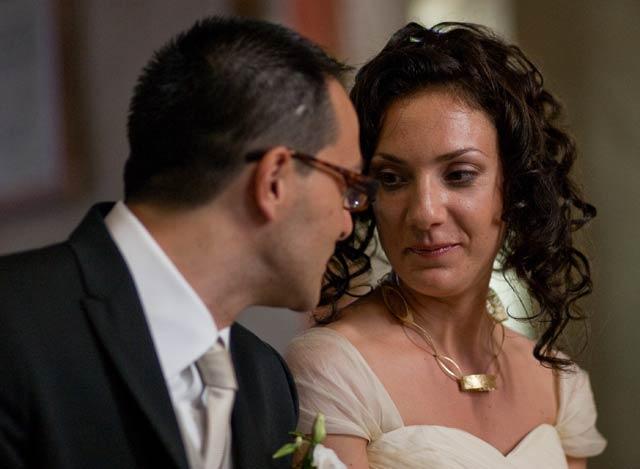 Glenda e Marco il giorno delle nozze.